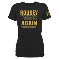 Ronda Rousey Women's UFC 190 Rousey Always Wins T-Shirt - Black