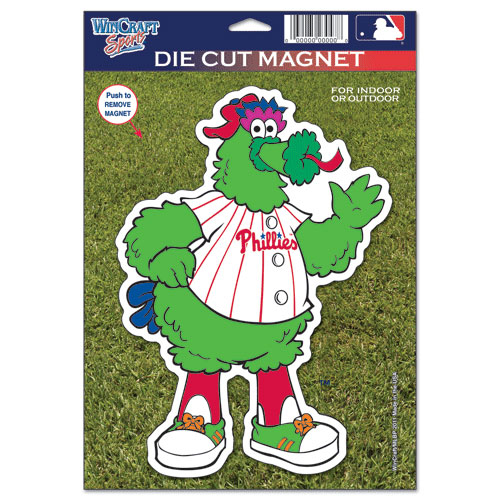 "Philadelphia Phillies WinCraft 6"" x 9"" Car Magnet-- - No Size"