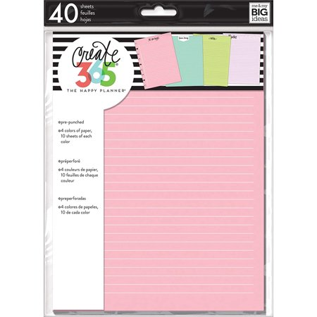 Me & My Big Ideas FIL-09 Happy Planner Fill Paper, Multicolor, Organize your daily tasks in these colorful refill sheets from Me & My Big Ideas By Me My Big Ideas ()