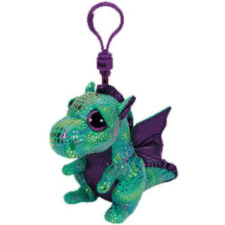 Cinder Dragon Beanie Boo Clip - Stuffed Animal by TY (36637)