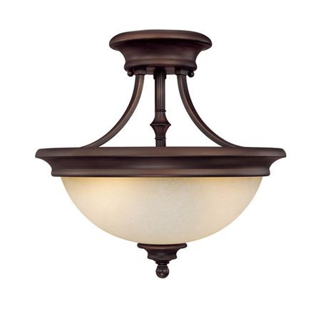 - Capital Lighting Belmont Burnished Bronze 2 Light Semi Flush Fixture