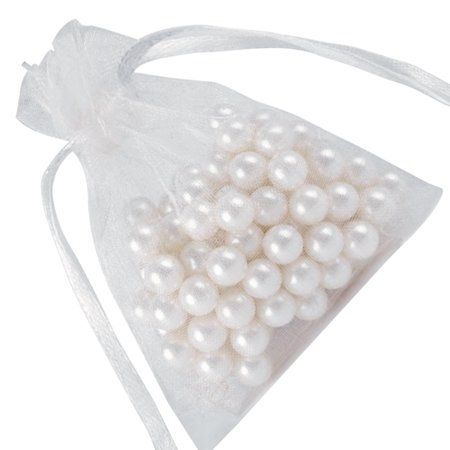 fashionhome 60pcs Mesh Design Candy Bag Drawstring Pouch Wedding Party Gift Bag Yarn Satin Organza Favour Pouch - image 7 of 8