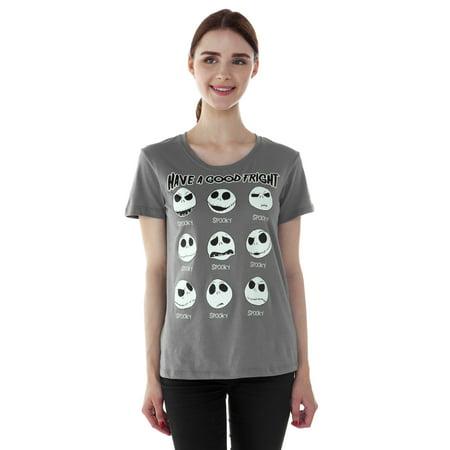 Juniors Nightmare Before Christmas Jack Skellington T-Shirt
