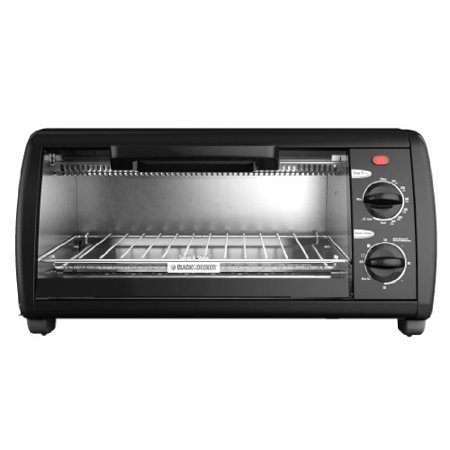 Black & Decker TO1412B 4-Slice Toaster Oven, Black