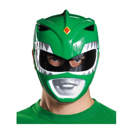 Adults Mighty Morphin Power Rangers Green Vacuform Mask Costume Accessory - Austin Powers Mask