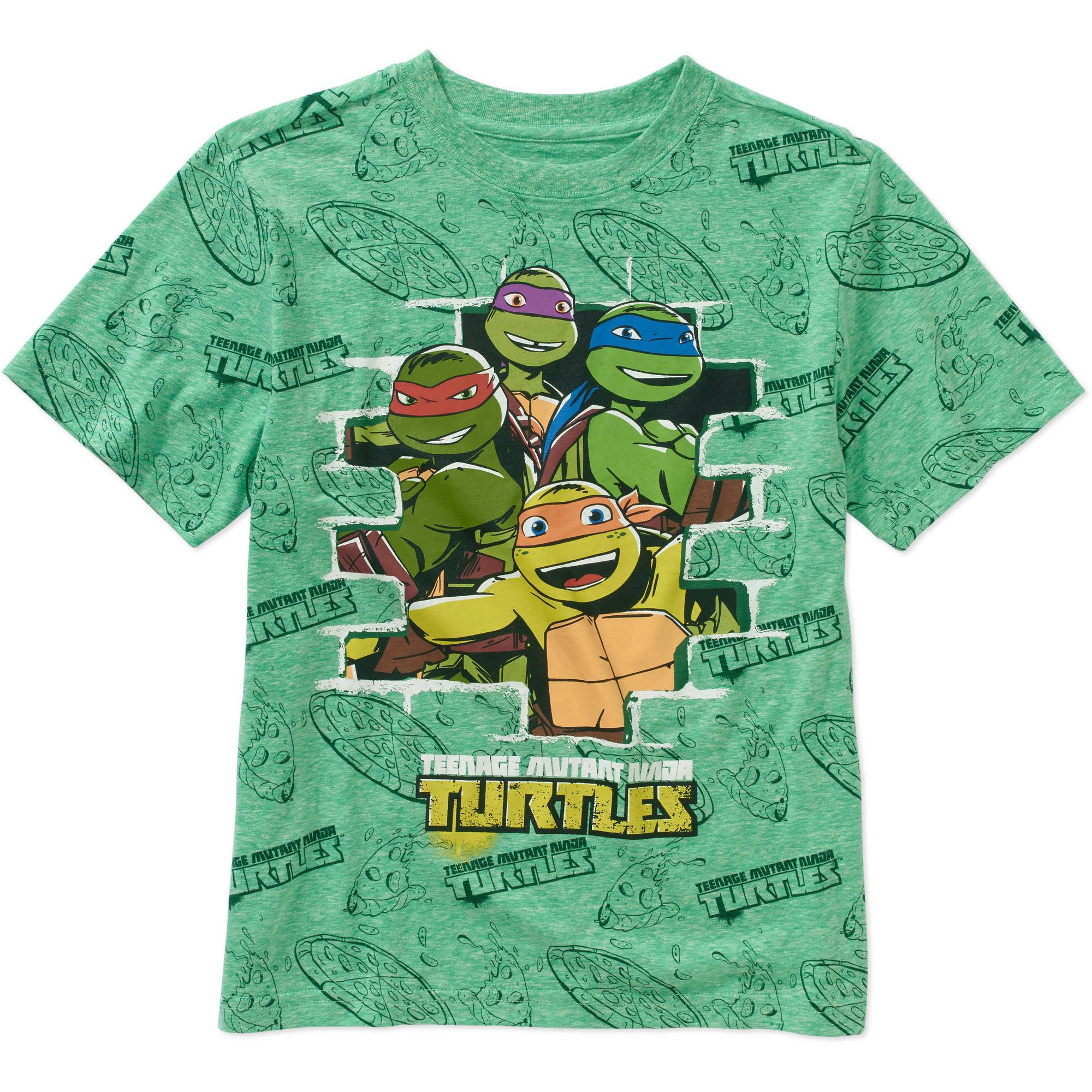 Teenage Mutant Ninja Turtles Boys' A/O Brick Short Sleeve Tee