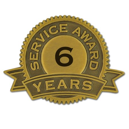 PinMart's 4 Years of Service Award Employee Recognition Gift Lapel Pin - White Corporate Employee Recognition Acrylic