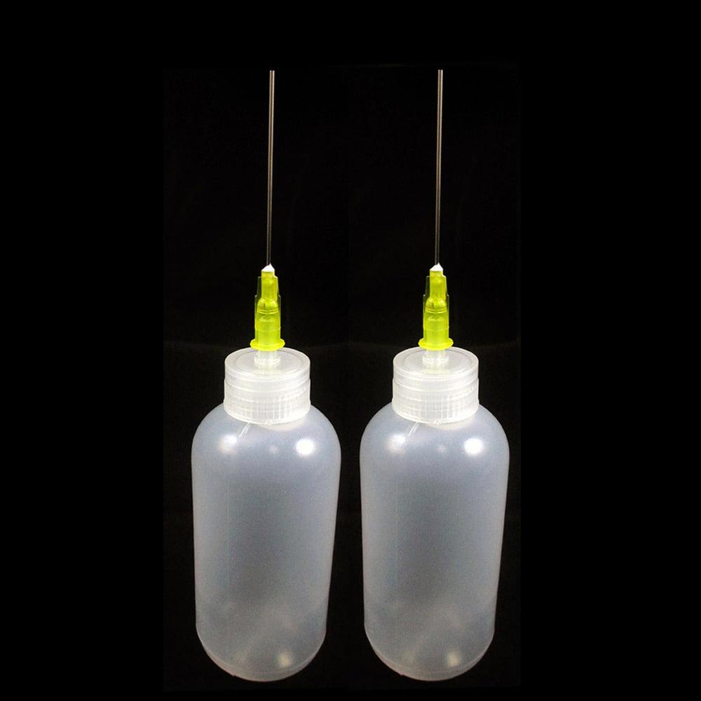 Two 2 OZ bottles with needle tip dispenser pharmaceutical grade