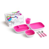 Munchkin Color Me Hungry Toddler Dining Set, Pink