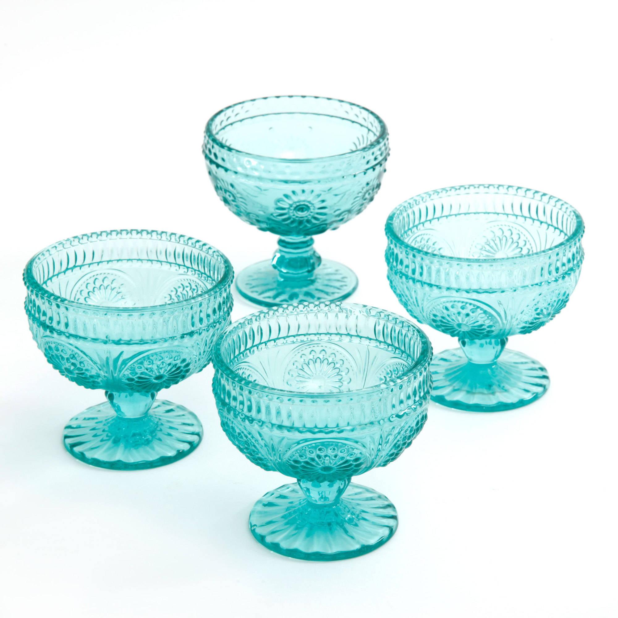 The Pioneer Woman Adeline 10 Oz Gl Sundae Cups Set Of 4