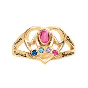 Personalized Family Jewelry Emily Mother's Birthstone Ring available in Gold-Plated Sterling Silver, Yellow and White Gold
