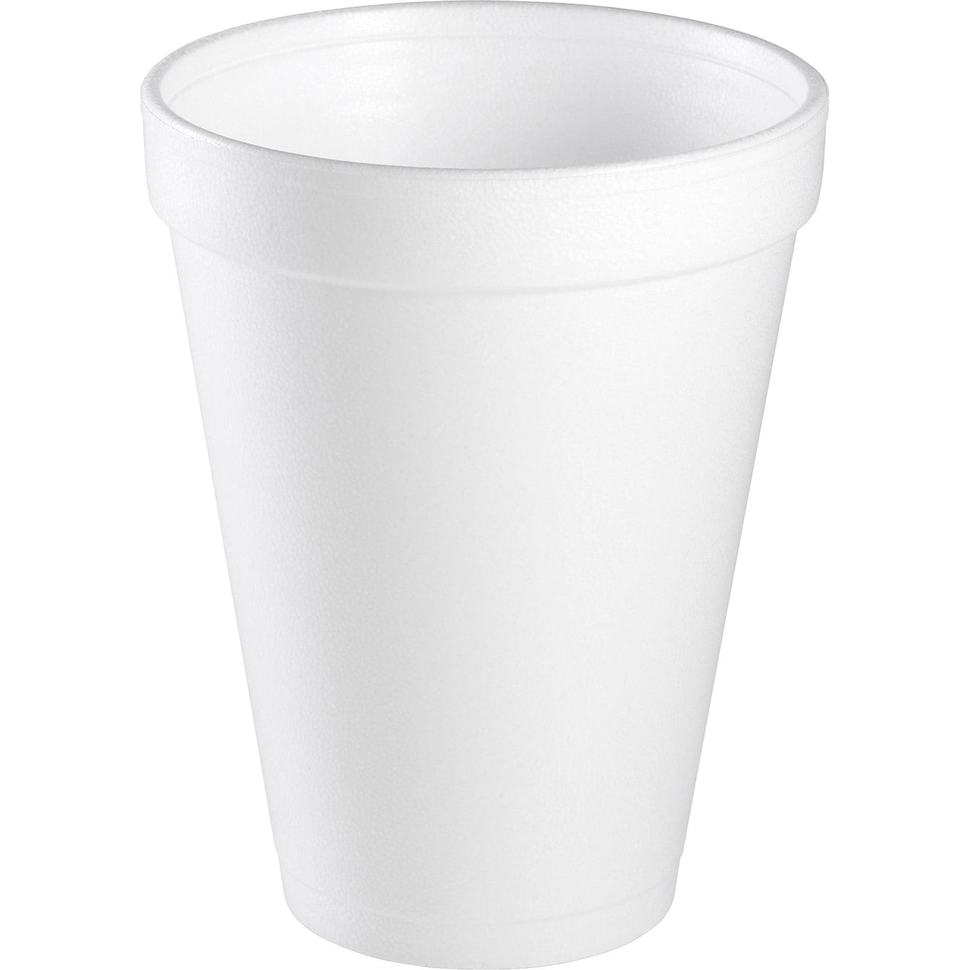 Dart Drink Foam Cups, 12 oz, White, 1000 ct