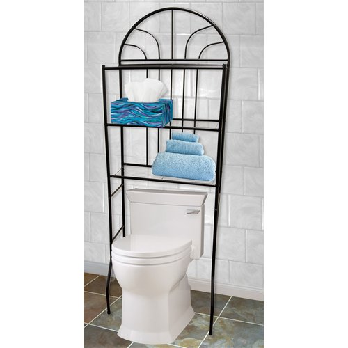 Home Basics Space Saver 24.4'' W x 68'' H Over-the-Toilet