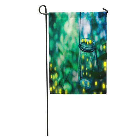 SIDONKU Green Bokeh Firefly in Jar Bugs Captured Catch Covering Dusk Garden Flag Decorative Flag House Banner 12x18 inch](Catch Fireflies)
