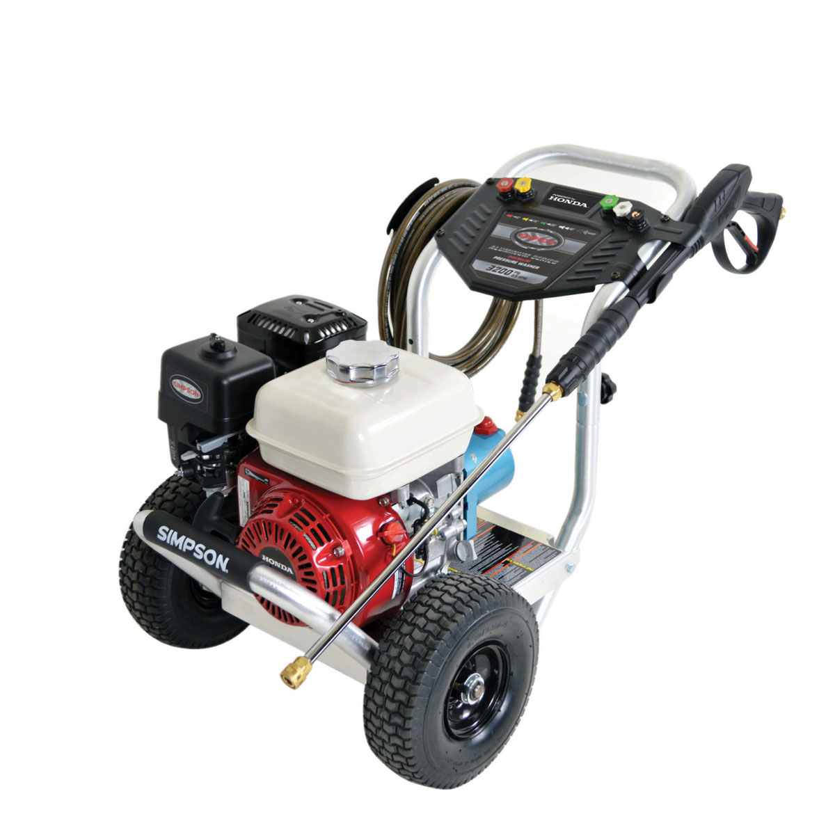 Simpson Commercial / Industrial Aluminum Gas Pressure Washer (3200 PSI @ 2.8 GPM) Powered by Honda / ALH3228-S, 60735