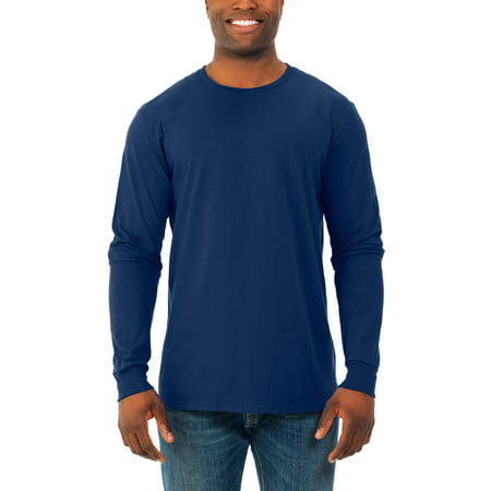 Fruit of the Loom Big men's soft long sleeve lightweight crew t shirt, 2 (Long Sleeve Crew Tee)