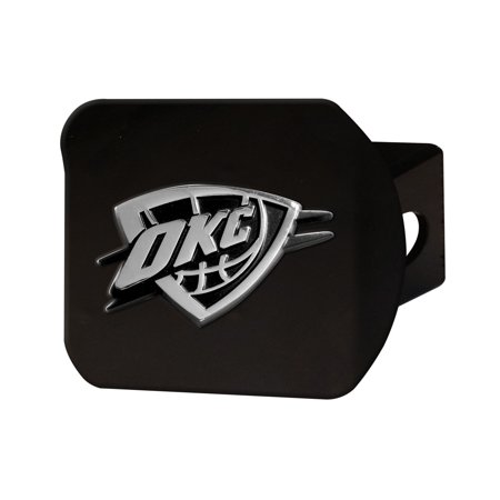 Oklahoma City Thunder Black Hitch Cover 4 1/2
