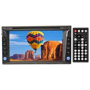 """TVIEW 6.2"""" DOUBLE DIN DVD PLAYER W/TOUCH SCREEN BUILT IN GPS BLUETOOTH USB & SD SLOT"""