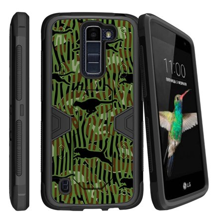 Lg K7   Lg Tribute 5 Dual Layer Shock Resistant Max Defense Heavy Duty Case With Built In Kickstand   Panther Life