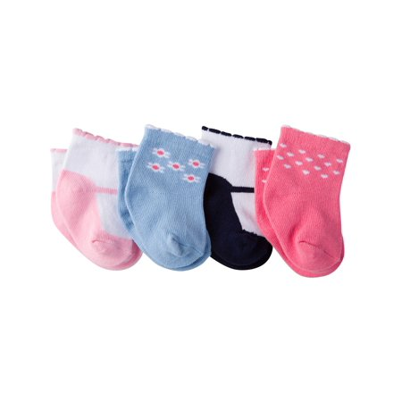 Baby Girl Bootie (Gerber Ankle Bootie Socks, 4-Pack (Baby Girls) )