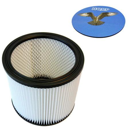 HQRP HEPA Cartridge Filter fits Shop-vac 903-04-00 for Wet / Dry Pickup + HQRP Coaster