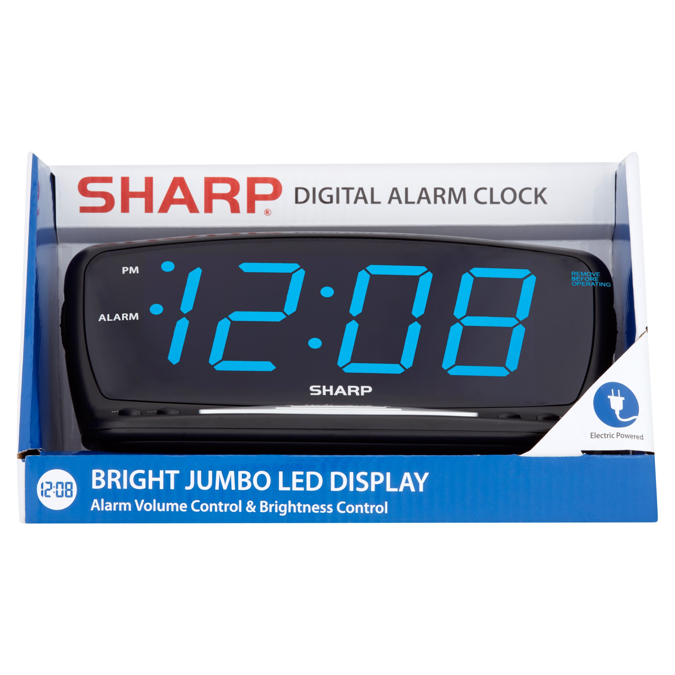 Wonderful Sharp Bright Jumbo LED Display Digital Alarm Clock