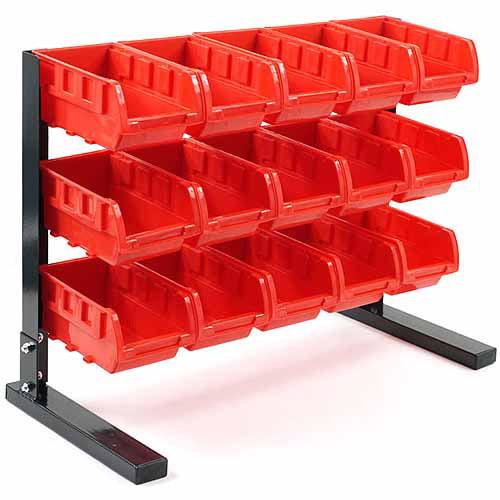 Stalwart 15 Piece Bench Top Parts Rack
