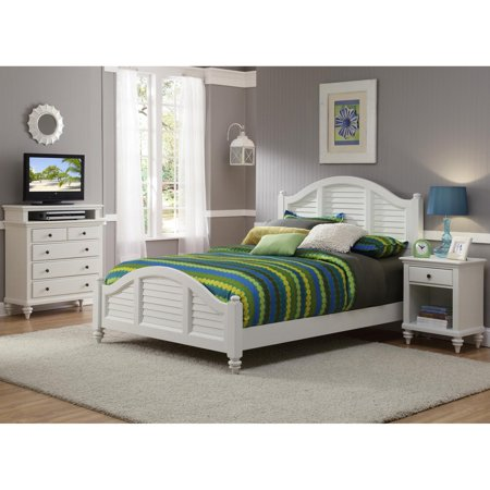 White Wood Queen Bed - Home Styles Bermuda Queen Low Profile Bed - White