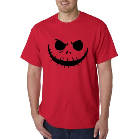New Way 971 - Unisex T-Shirt Jack Skellington Pumpkin Face Scary 4XL Red