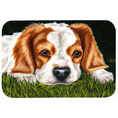 Cavalier Bath (Caroline's Treasures Cavalier Spaniel in the Grass Kitchen/Bath Mat )