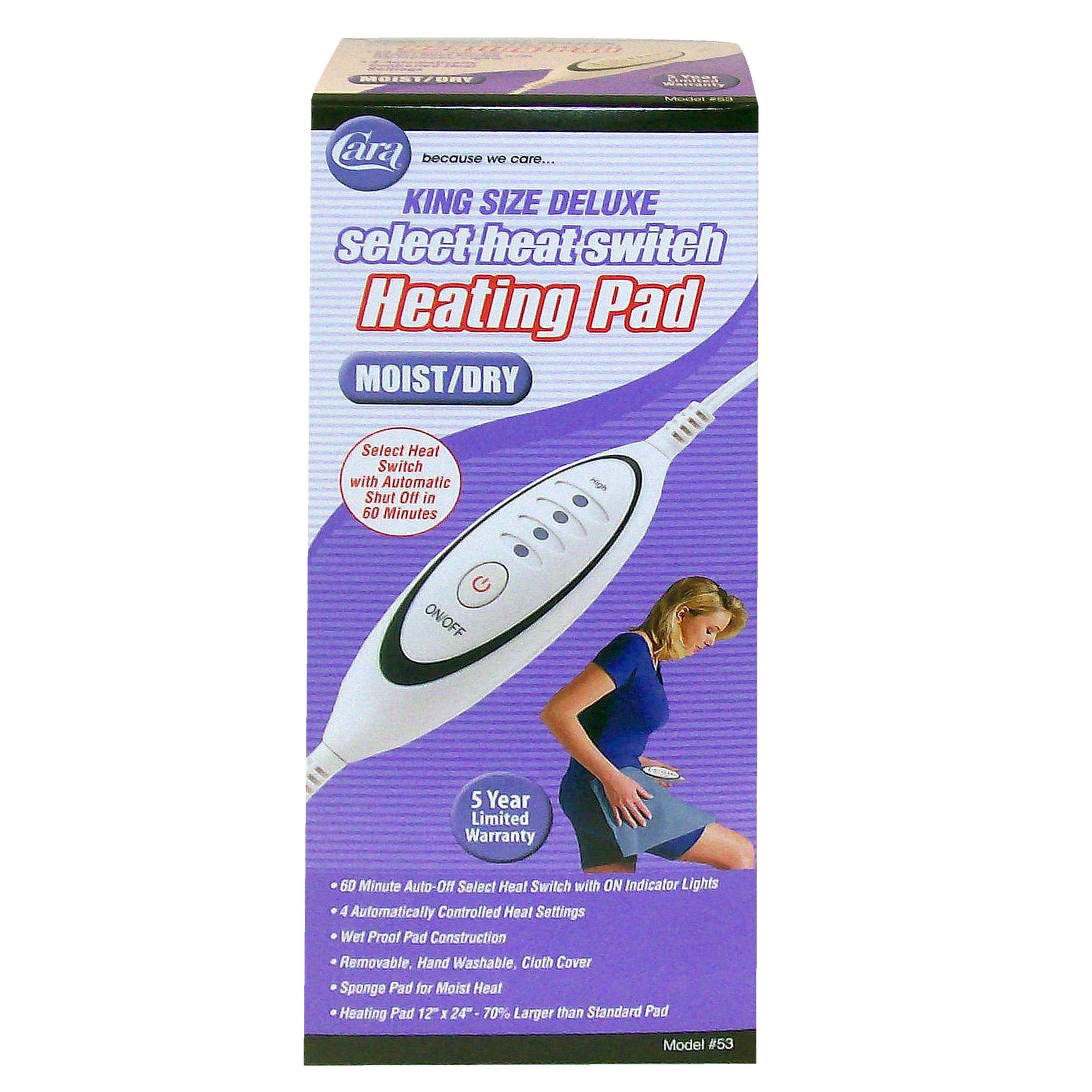 Heating Pad Moist/Dry King Size