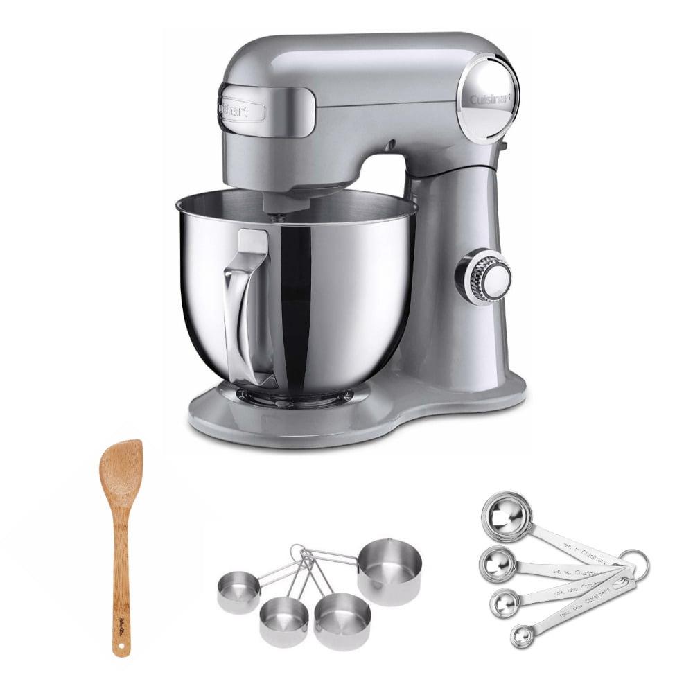 Cuisinart Precision Master Stand Mixer (5.5-Quart, Brushed Chrome) Bundle