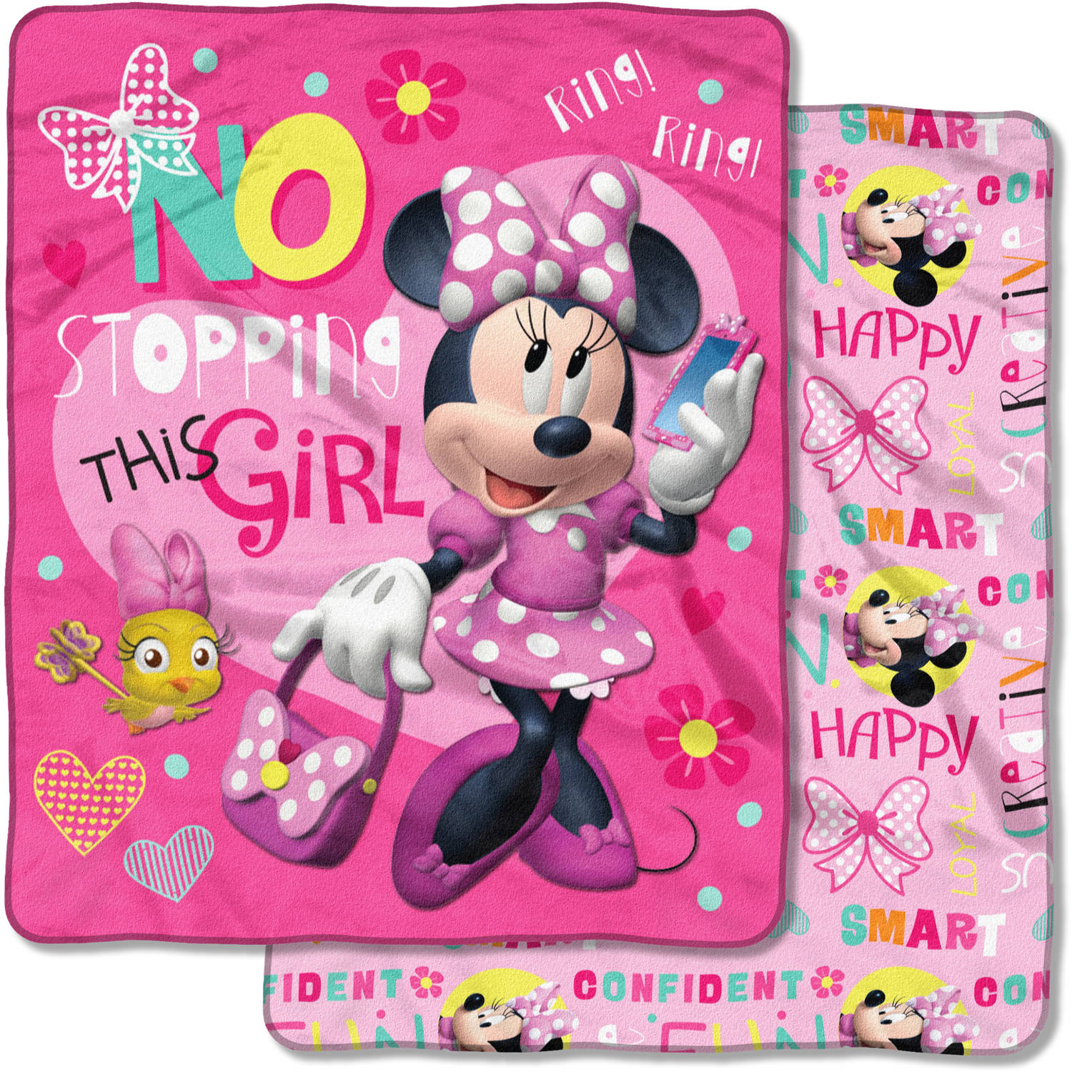 "Disney's Minnie Mouse, ""This Girl"" 50""x 60"" Double Sided Cloud Throw"