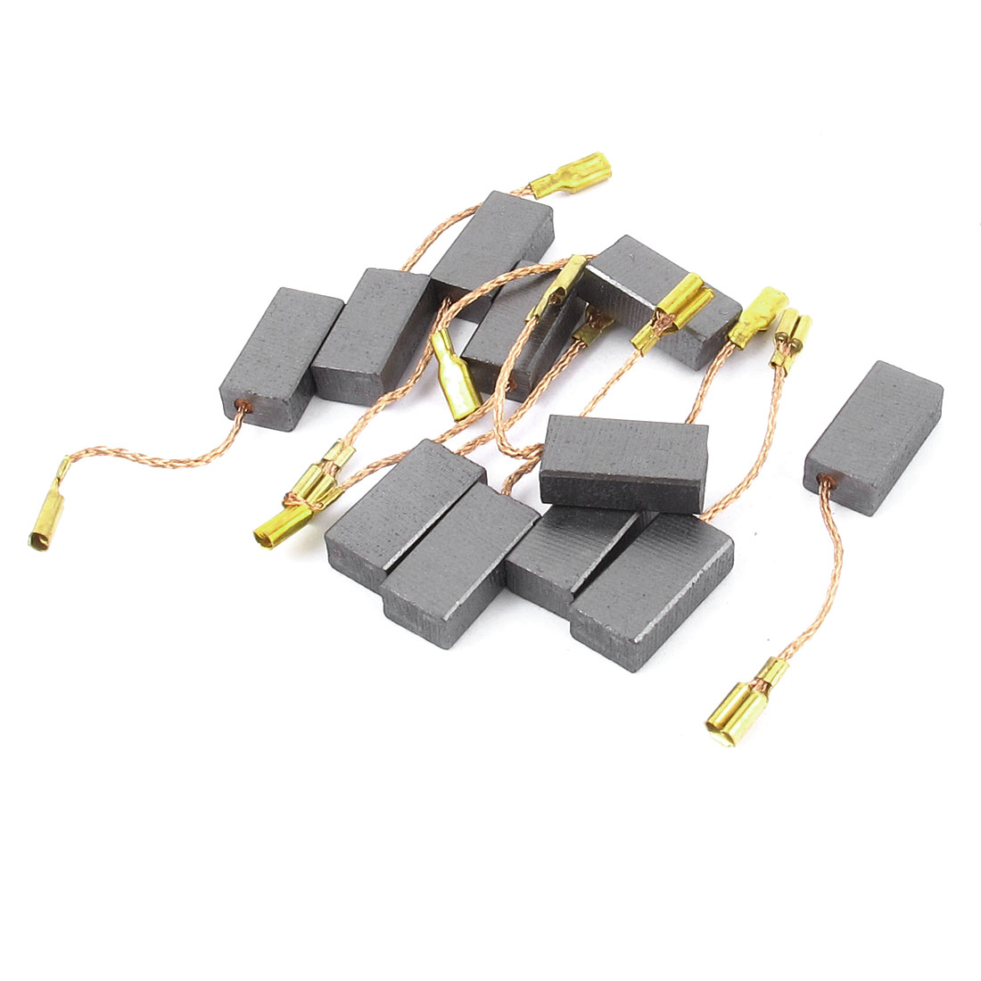 5 Pair 15mm x 8mm x 5mm Motor Carbon Brushes Replacement for Air Compressor