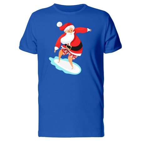 Cool Santa Surfing The Waves Tee Men's -Image by