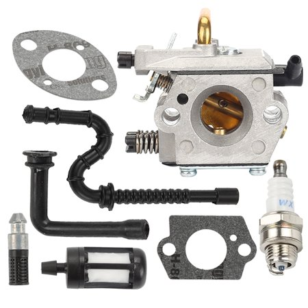 024 Oil - HIPA Carburetor For Stihl 024 026 MS240 MS260 Chainsaw Replace WT-403B 1121 120 0610 Carburetor Oil Filter Oil line Fuel Filter spark plug