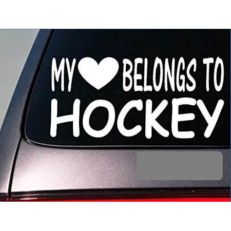 Hockey player My heart belongs Sticker *G517* 8