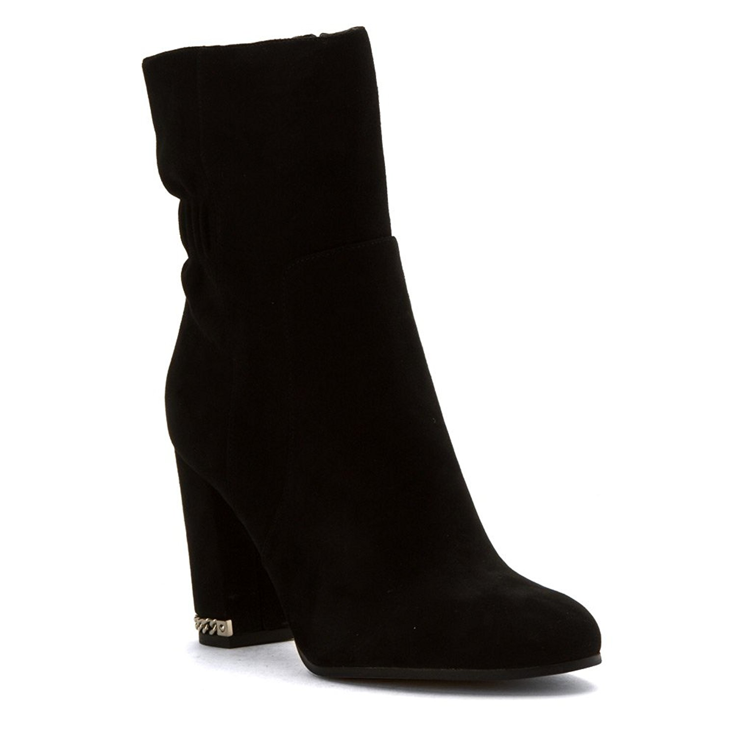 Michael Kors Womens Chase Suede Almond Toe Ankle, Black, ...