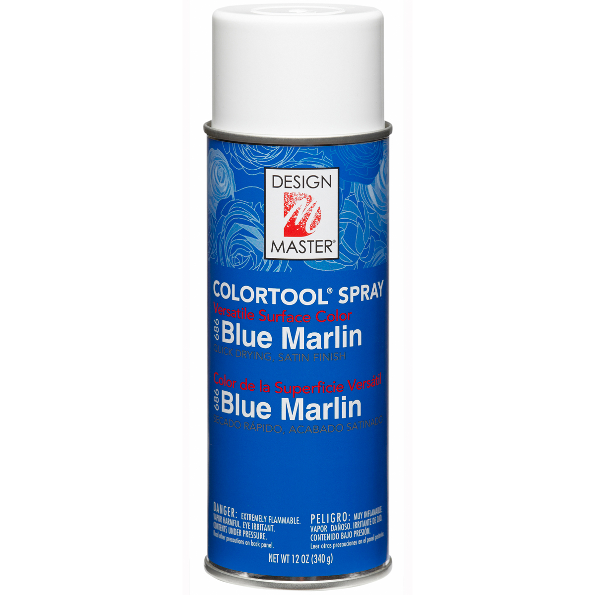 Design Master Colortool Spray Paint 12oz-Blue Marlin
