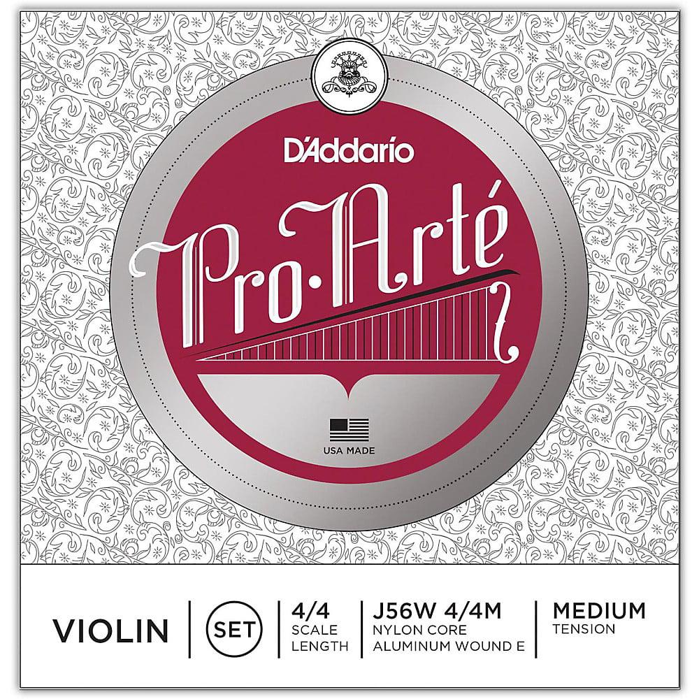 D'Addario Pro-Arte Series Violin String Set 4 4 Size Wound E by D'Addario