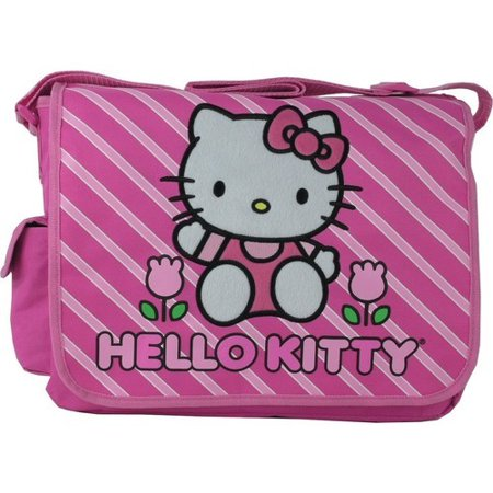 Hello Kitty Bag Pack (hello kitty large messenger sling laptop book bag pack -)