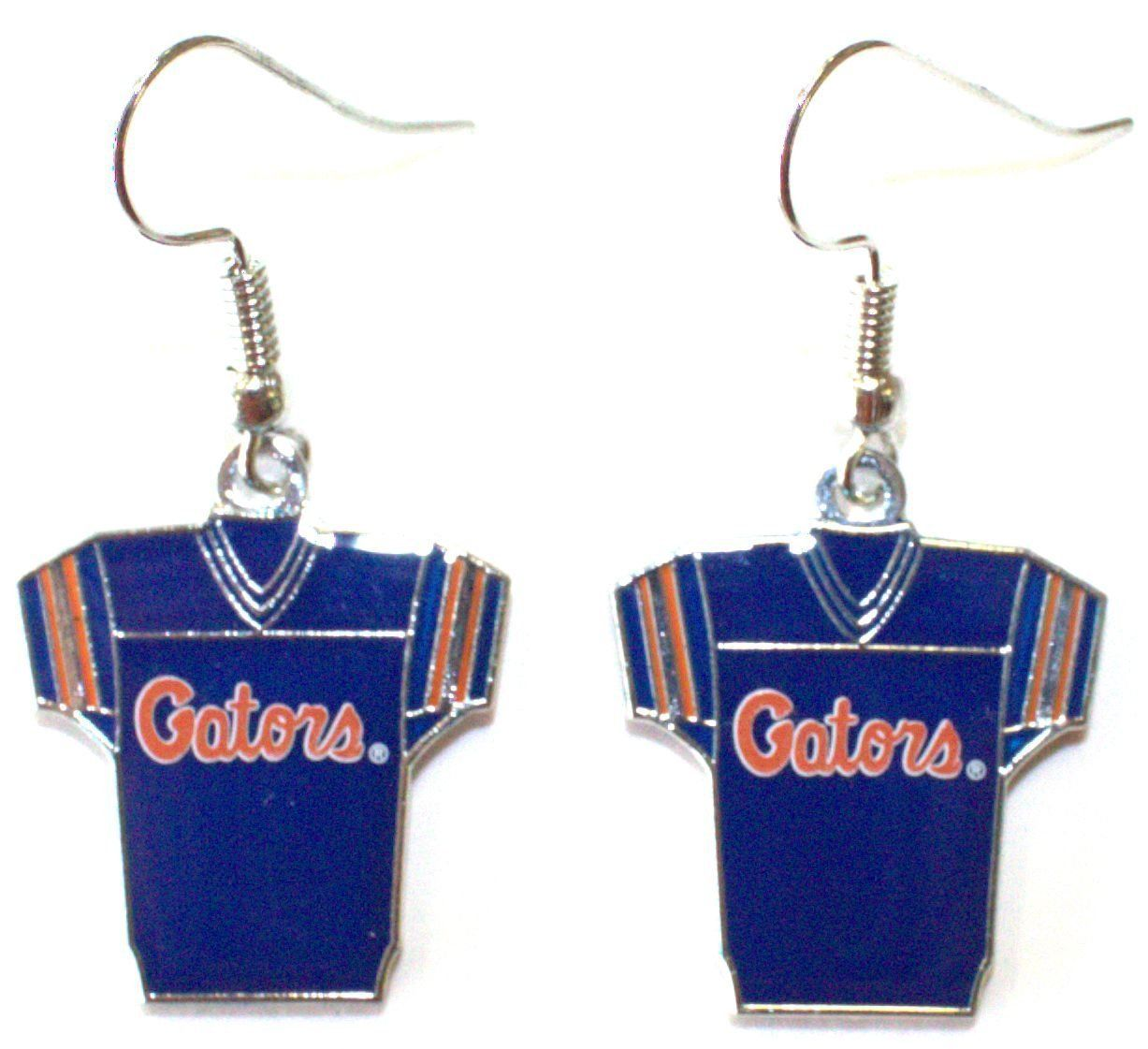 NCAA Officially Licensed Florida Gators Jersey Style Dangle Earrings