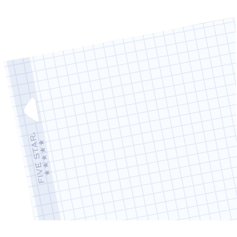 Graph Quad Ruled Reinforced 100-Sheet Five Star Filler Paper