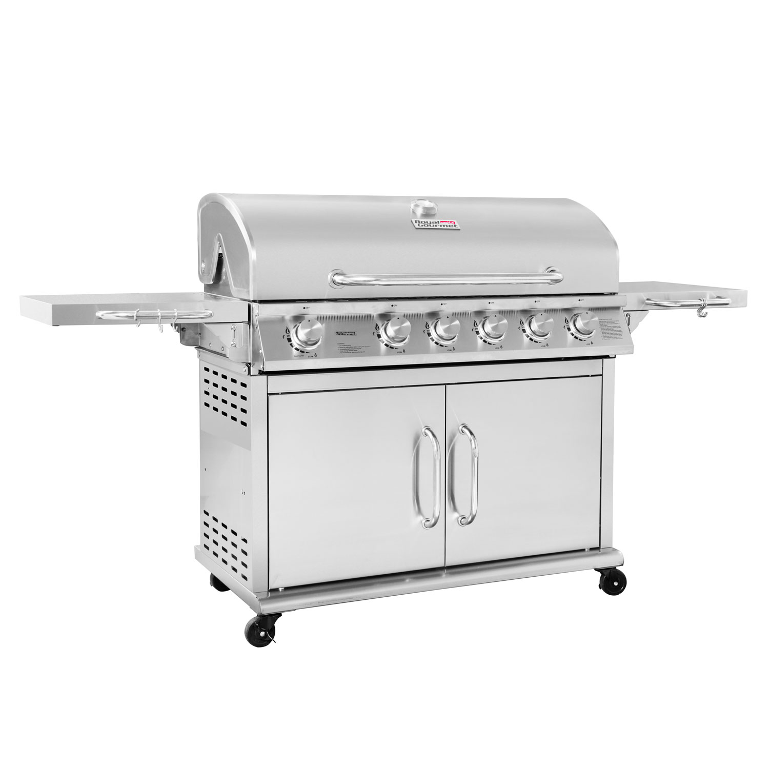 Royal Gourmet Pre- Assembled 6 Burner Stainless Steel Gas Grill with Infrared Burner by