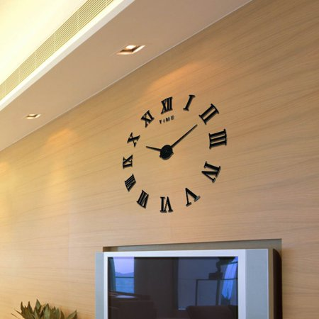 rome numerals wall clock decorative clock for living room diy 3d
