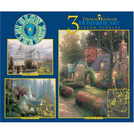 Thomas Kinkade 3 in 1 Glow in the Dark Puzzle - Home and Heart (3651-2)](Heart Puzzle)