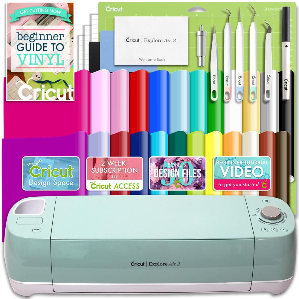 Cricut Explore Air 2 Vinyl Bundle With 26 Sheets Of Vinyl And More!