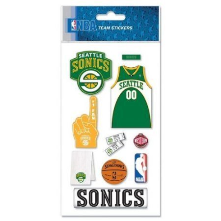 Photo Seattle Sonics Basketball (NBA Seattle Sonics Basketball Dimensional Scrapbook Stickers (NBAJB26), Package of 1 sheet of stickers By Jolee's Boutique )