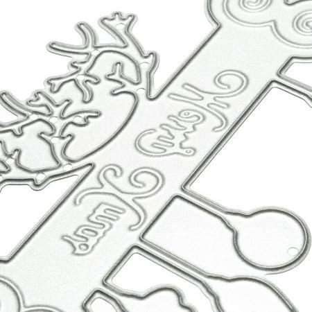 DIY Cutting Christmas Text Dies Stencil Scrapbook