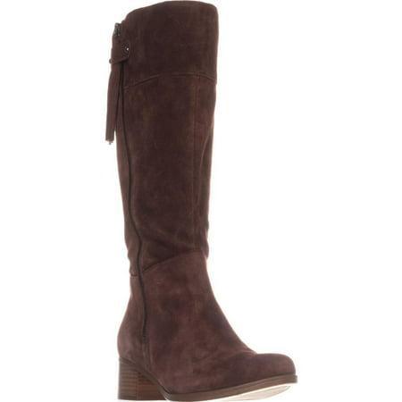 - Womens naturalizer Demi Block-Heel Riding Boots, Chocolate